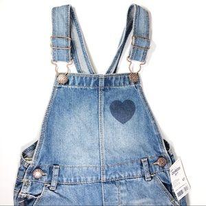 Osh Kosh Overalls skirt Jean Girls 4T heart 3/$20